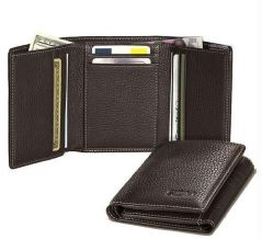 Gift Or Buy Tri Fold Leather Wallet