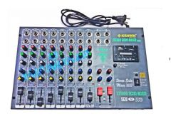 Dj equipments - Krown 8 Channel Stereo Echo Mixer with inbuilt Digital Media Player - KSEM 8USB