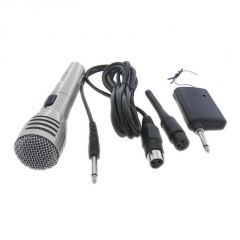 Dj equipments - Krown Economical Series Cordless / Wireless Dynamic Microphone