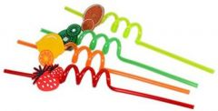 Kitchen Jazz Crazy Drinking Straw  (Multicolor, Pack of 4)