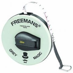 15 Meter / 50 FT Freemans Fibra Fiber Glass Measuring Tape