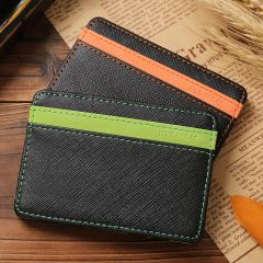 Orange And Green Colors Credit Card Holders Money Wallets Colored Unisex Wallets