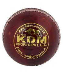 KDM Sports Magic Red Leather Ball
