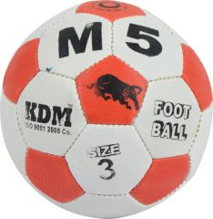KDM Sports M 5 Football - Size 3, Diameter 17 cm (Pack of 1, Multicolor)