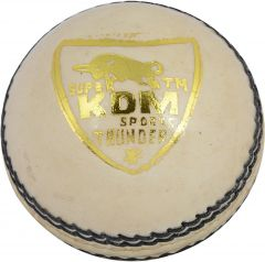 KDM Sports Thunder Cricket Ball - Size 3, Diameter 7 Cm (Pack Of 1, White)