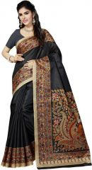 Mahadev Enterprises Black Bhagalpuri Cotton Saree With Running Blouse Pics ( Code - PF135 )