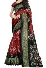 Mahadev Enterpris MultiColor Bhagalpuri Silk Saree With Unstitched Blouse PicsMPF37