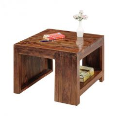 Inhouz Sheesham wood Cammer Coffee Table (Teak Finish)