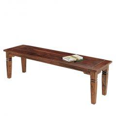 Inhouz Sheesham Wood Sonu Bench (Teak Finish)