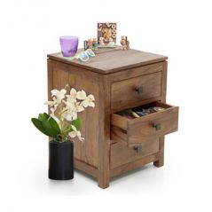 Bedside tables - Inhouz Sheesham wood Doarin Bedside Table (Teak Finish)