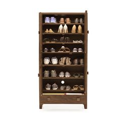 Inhouz Sheesham Wood Genusher Shoe Rack (Teak Finish)
