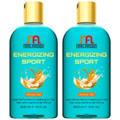 Man Arden Energizing Luxury Shower Gel - Spearmint Oil Body Wash - 300 ml / 10 fl oz (Pack of 2)