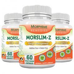 Morpheme Morslim-Z - 500mg Extract - 60 Veg Caps - 3 Bottles