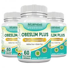 Morpheme Obeslim Plus 500mg Extract 60 Veg Caps - 3 Bottles