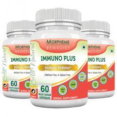 Morpheme Immuno Plus 500mg Extract 60 Veg Caps - 3 Bottles