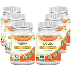 Morpheme Terminalia Arjuna 500mg Extract 60 Veg Caps - 6 Bottles
