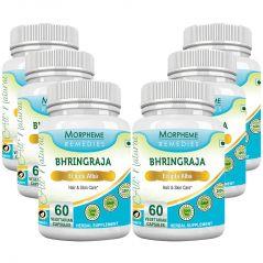 Morpheme Bhringraja (Eclipta Alba) 500mg Extract 60 Veg Caps - 6 Bottles
