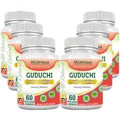 Morpheme Guduchi (Tinospora Cordifolia) - 500mg Extract - 60 Veg Caps - 6 Bottles