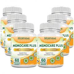 Morpheme Memocare Plus - 500mg Extract - 60 Veg Caps - 6 Bottles