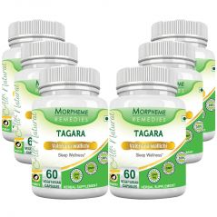 Morpheme Valerian (Tagara) 500mg Extract 60 Veg Caps - 6 Bottles