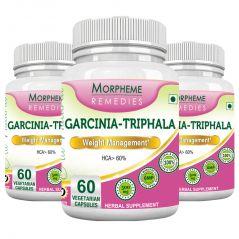 Morpheme Garcinia Triphala - 500mg Extract 60 Veg Caps - 3 Bottles