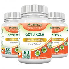 Morpheme Gotu Kola 500mg Extract 60 Veg Caps - 3 Bottles