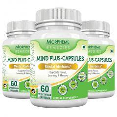 Morpheme Mind-Plus 500mg Extract 60 Veg Caps - 3 Bottles