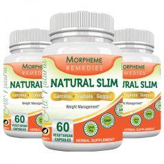 Morpheme NaturalSlim (Garcinia) 500mg Extract 60 Veg Caps - 3 Bottles