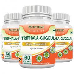 Morpheme Triphala Guggul Supplements 500mg Extract 60 Veg Caps - 3 Bottles