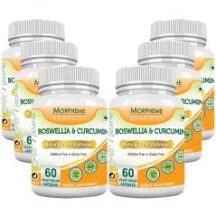 Morpheme Boswellia & Curcumin 500mg Extract 60 Veg Caps - 6 Bottles