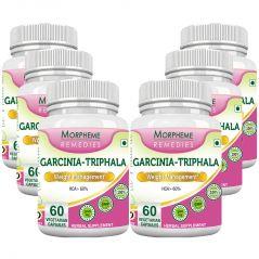 Morpheme Garcinia Triphala - 500mg Extract 60 Veg Caps - 6 Bottles