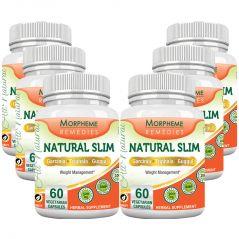 Morpheme NaturalSlim (Garcinia) 500mg Extract 60 Veg Caps - 6 Bottles