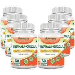 Morpheme Triphala Guggul Supplements 500mg Extract 60 Veg Caps - 6 Bottles