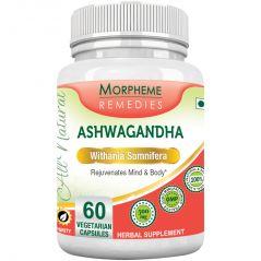 Morpheme Ashwagandha (Withania Somnifera) 500mg Extract 60 Veg Caps