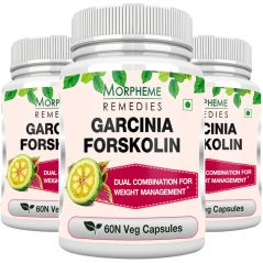 Morpheme Garcinia Forskolin 500mg Extract 60 Veg Caps - 3 Bottles