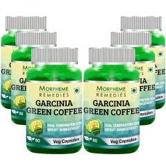 Morpheme Garcinia Green Coffee 500mg Extract 60 Veg Caps - 6 Bottles
