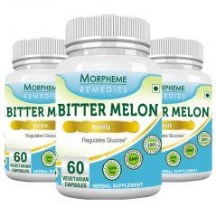 Morpheme Bittermelon (Karela) 500mg Extract 60 Veg Caps - 3 Bottles