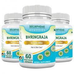 Morpheme Bhringraja (Eclipta Alba) 500mg Extract 60 Veg Caps - 3 Bottles