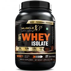 MuscleXP 100% Whey Isolate Protein - 1Kg (2.2 lbs), Double Rich Chocolate - The New Whey Standards