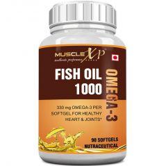 MuscleXP Fish Oil 1000mg - 330mg Omega-3 - 90 Softgels