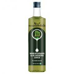 NourishVitals WheatGrass With AloeVera Juice 500ml - No Added Sugar