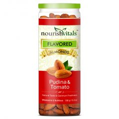 NourishVitals Roasted Almonds Pudina & Tomato Flavored - 150 gm