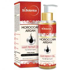 St.Botanica Moroccan Argan Hair Repair Oil - 100ml - For All Hair Types & Beard With Vitamin E