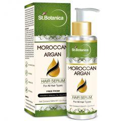 St.Botanica Moroccan Argan Hair Serum - For All Hair Types & Beard - 100ml / 3.4 Fl Oz