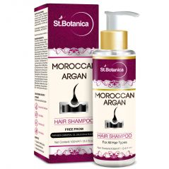 St.Botanica Moroccan Argan Hair Shampoo 100ml - Free from SLS, Paraben (With Silk Protein & Oils)