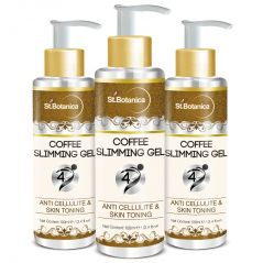 St.Botanica 4D Coffee Slimming Cream - AntiCellulite & Skin Toning 100ml (With Guarana Oil) - Pack of 3