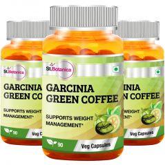 St.Botanica Garcinia Green Coffee Bean Extract - 90 Veg Caps - Pack of 3