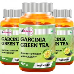St.Botanica Garcinia Green Tea - 90 Veg Caps - Pack Of 3