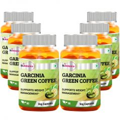 St.Botanica Garcinia Green Coffee Bean Extract - 90 Veg Caps - Pack of 6