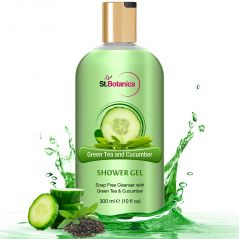 St.Botanica Green Tea And Cucumber Luxury Shower Gel - Green Tea & Cucumber Oils Body Wash - 300 Ml